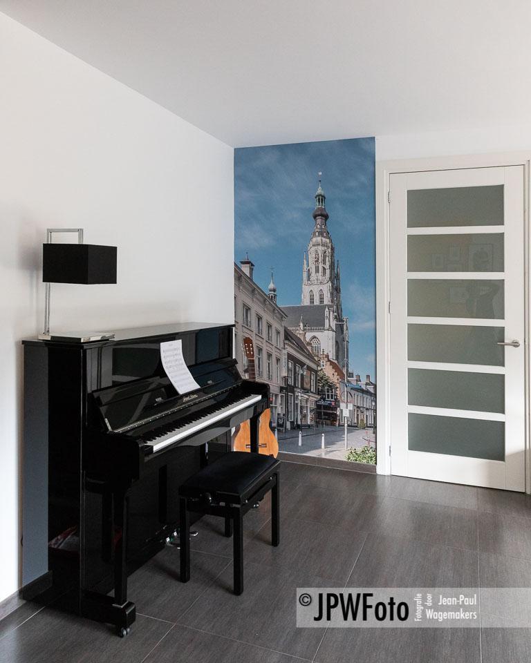 Kleurrijke fotohoek Breda, print op naadloos behang