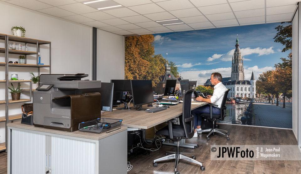 Ontvangstruimte met fotobehang Breda