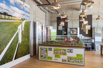 Fotowand in informatiecentrum Meerrijk